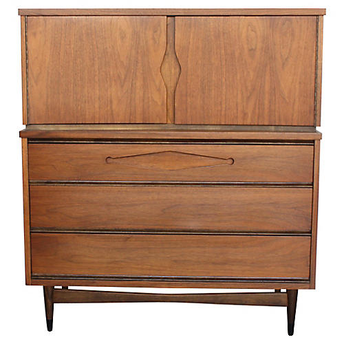 Mid-Century Mod Tall Dresser by Bassett