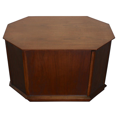 Octagonal Storage Coffee Table by Lane
