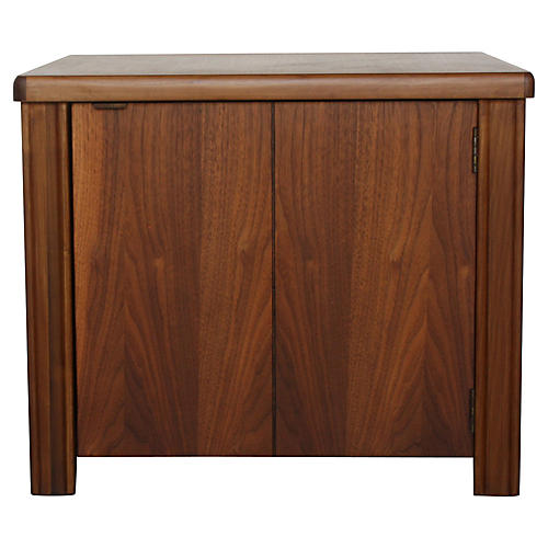 Modernist Cabinet Walnut Side Table