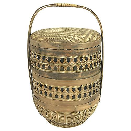 Chinese Antique Dim Sum Basket