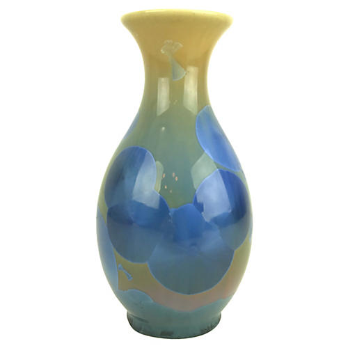 Hand-Turned Crystalline Glaze Vase