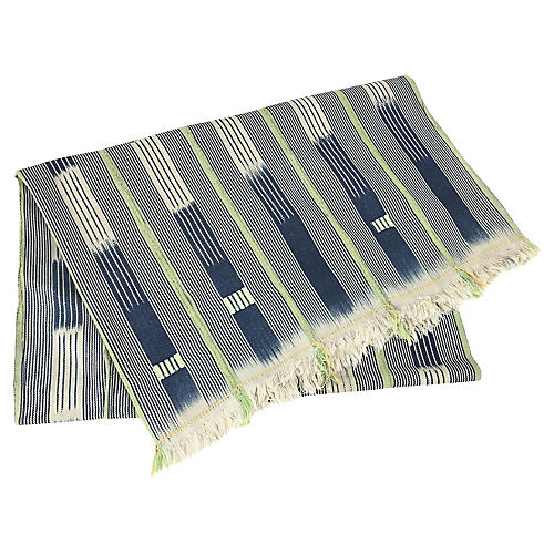 African Indigo Baule Throw