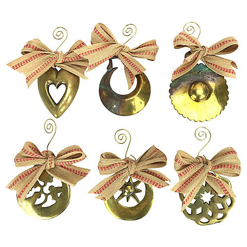 English Horse Brass Ornaments, S/6