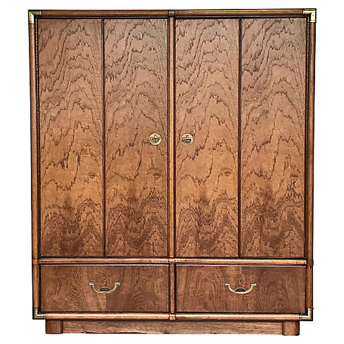 Campaign-Style Cabinet Dresser by Drexel