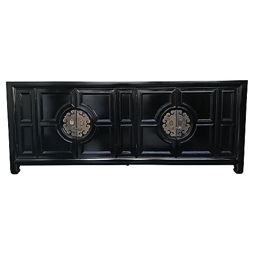 Black-Lacquered Credenza by Century