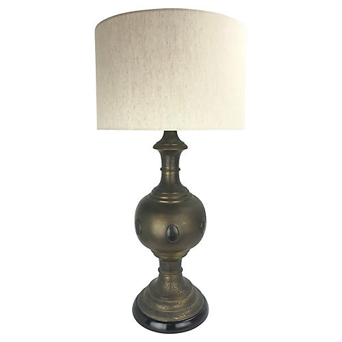 Large-Scale Brass Table Lamp