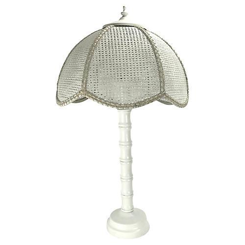Midcentury Bamboo-Style Lamp