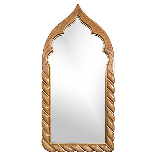 Arabesque Wood Wall Mirror by Drexel