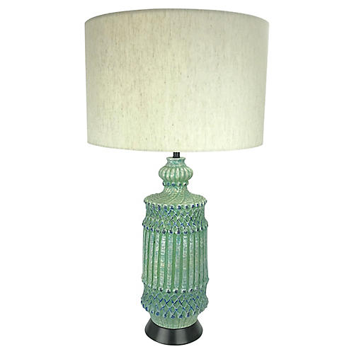 Midcentury Regency Trellis Lamp
