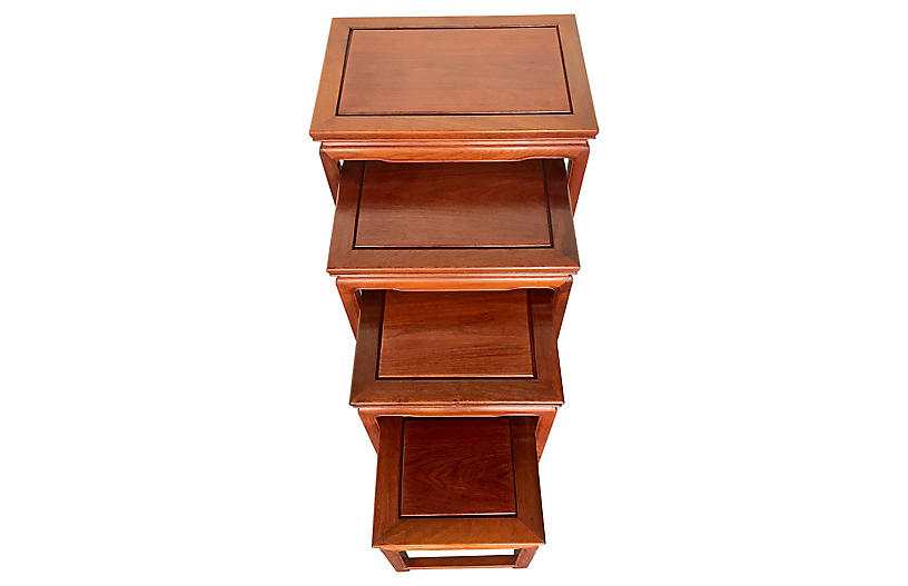 Chinese Rosewood Asian Nesting Tables