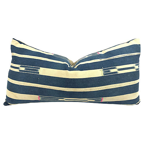 African Indigo Baule Lumbar Pillow