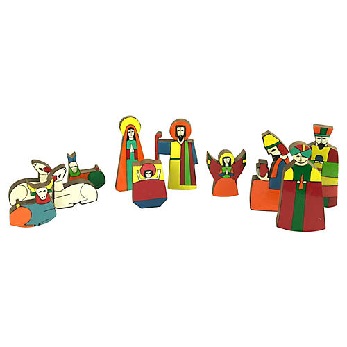 El Salvadorean Nativity Scene, 11 Pcs