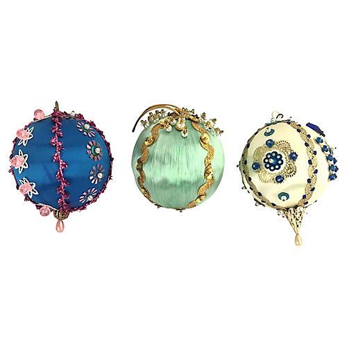 Hand-Made Push Pin Ornaments, S/3