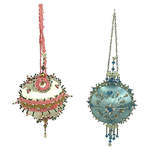 Ornate Push Pin Ornaments, S/2