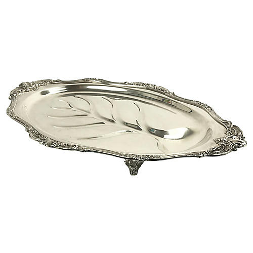 Wallace Footed Silverplate Meat Dish