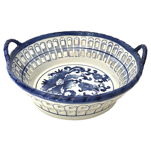 Dutch Delft Cobalt & White Catchall