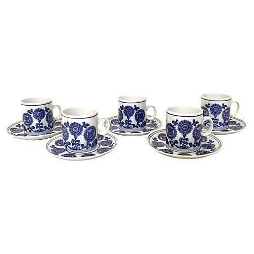 German Porcelain Coffee Cups, S/5