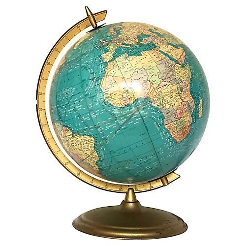 1970s Cram Co. Lighted Globe