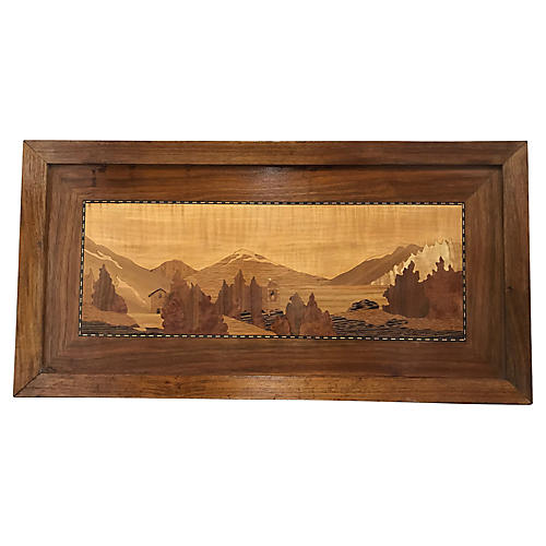 Inlaid Wood Scenic Wall Art