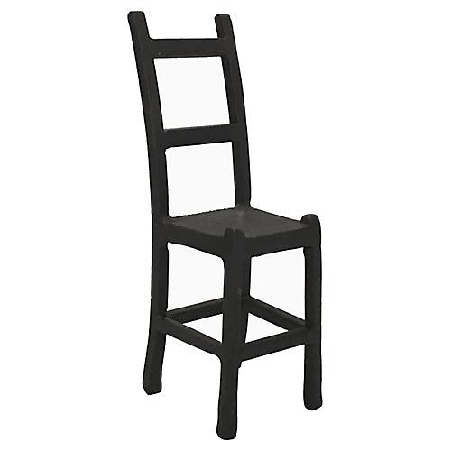 Miniature Cast Iron Ladder Chair