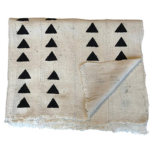 African Hand-Made Mudcloth Throw