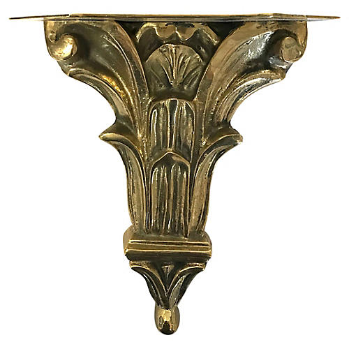 Solid Brass Shelf