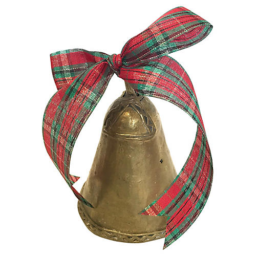 """Hand-Forged 6"""" Brass Cowbell"""