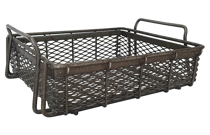 Midcentury Industrial Machinist Basket