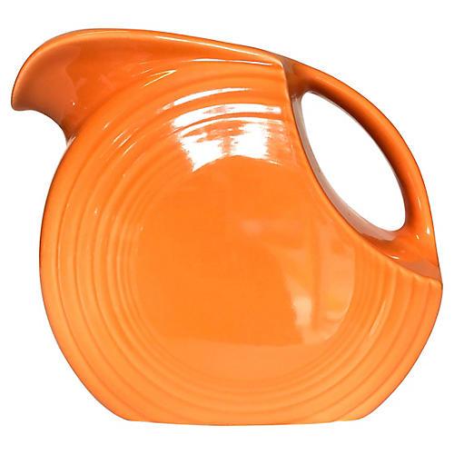 Tangerine Fiesta Ware Disc Pitcher