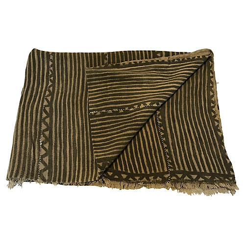 1980s African Mud-Cloth Throw