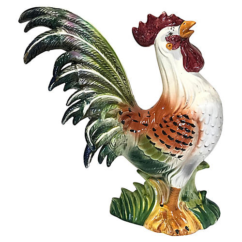 "Large Scale 21"" Ceramic Rooster"