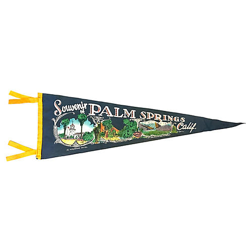 1950s Palm Springs Tourist Pennant