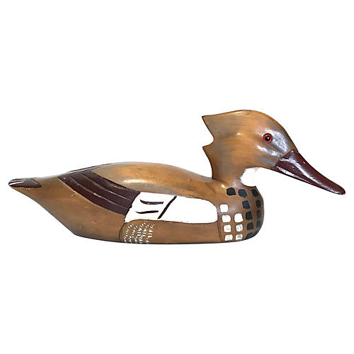 Hand-Carved Duck Decoy