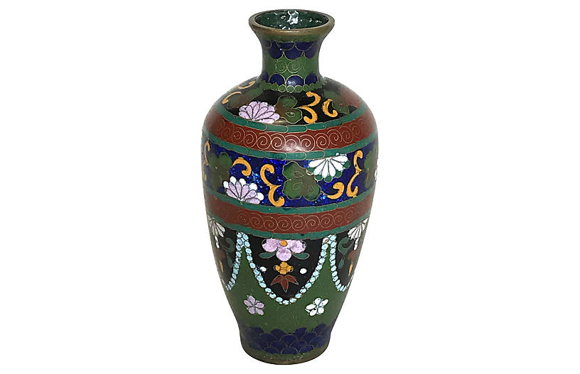 Chinese Cloisonné Bud Vase, Meiji Period