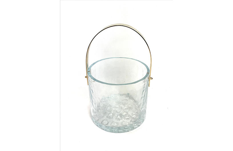 Swedish Ice Bucket by Mantorp Glass