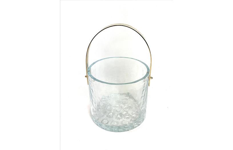 Swedish Ice Bucket by Mantorp Glass