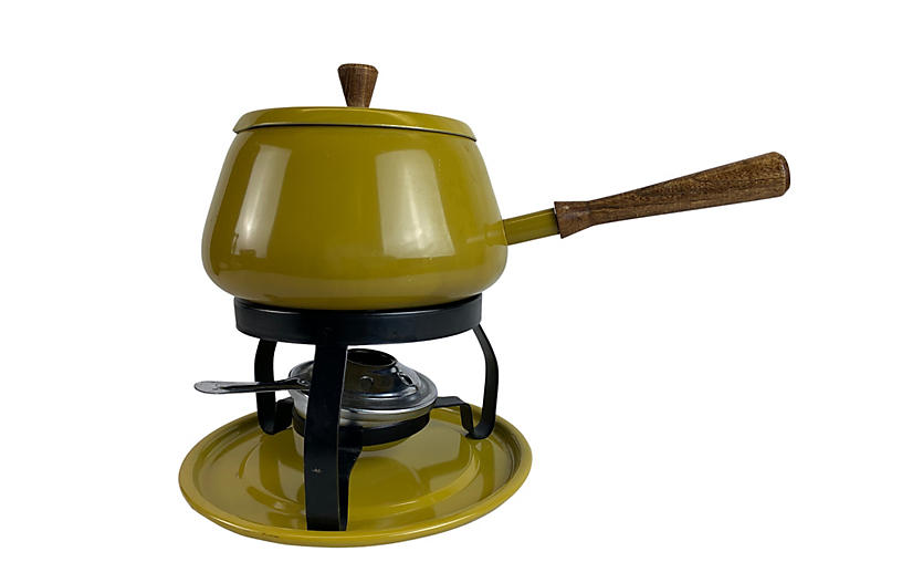 Mid-Century Modern Fondue Pot & Warmer