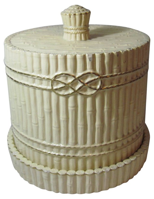 English Yellow Ware Cheese Keeper