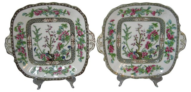 Indian Tree Serving Plates, Pair