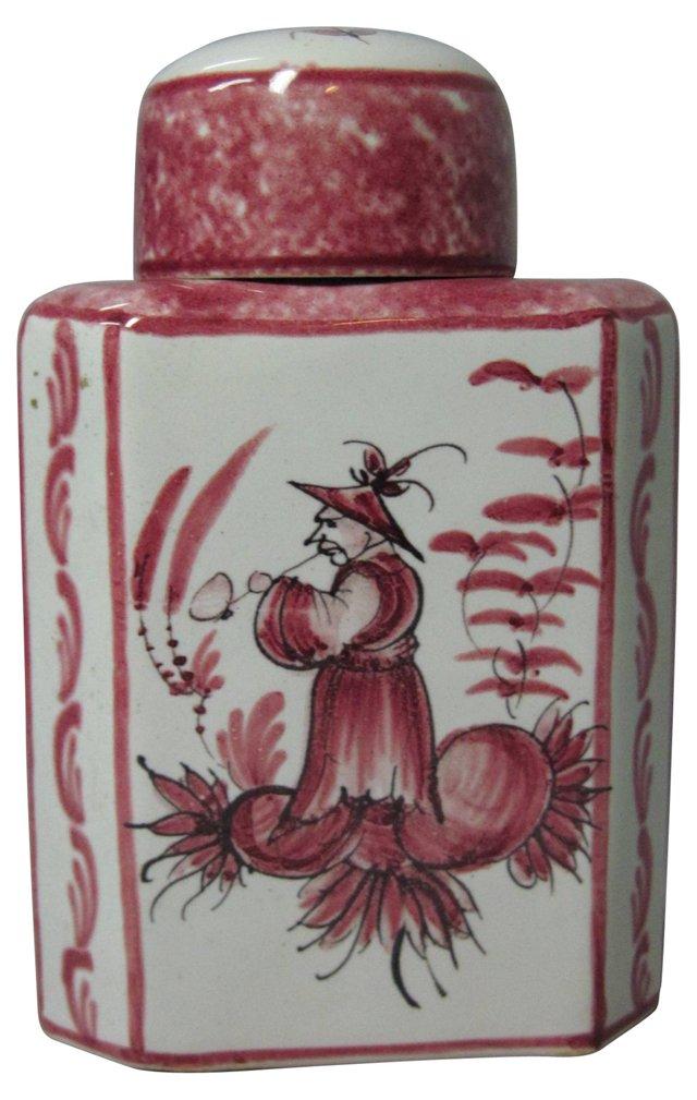 Hand-Painted Italian Tea Jar