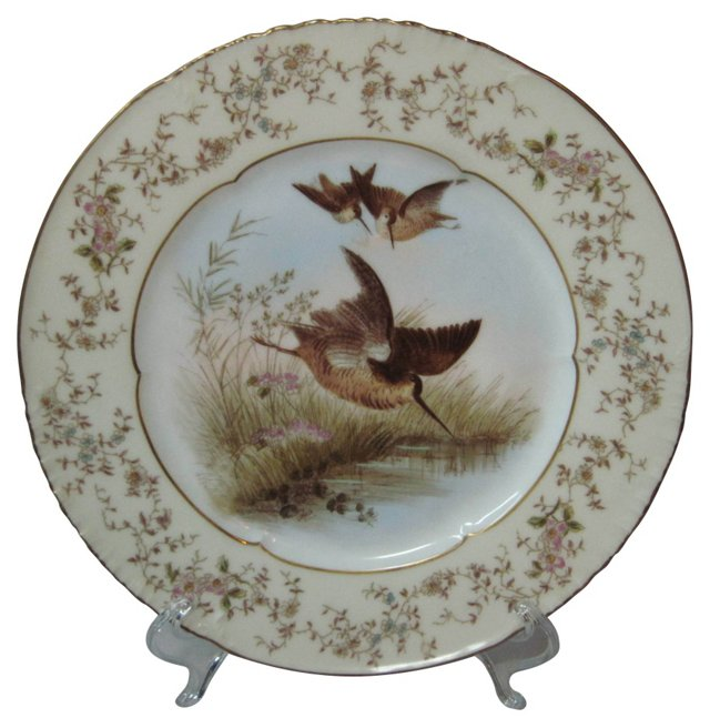 Haviland Hand-Painted Birds Plate