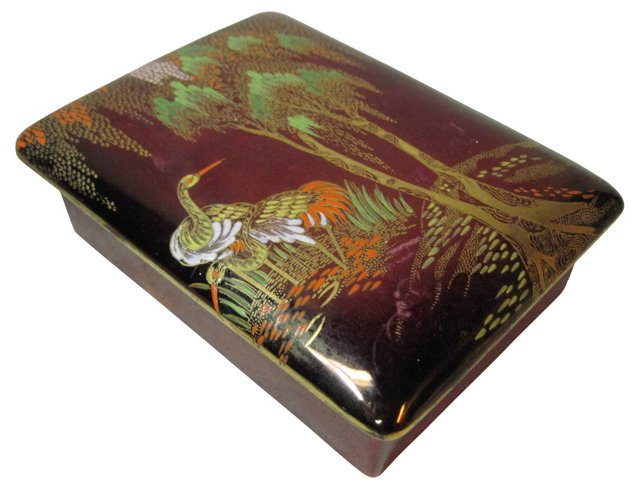 Rouge Royale Heron Covered Box