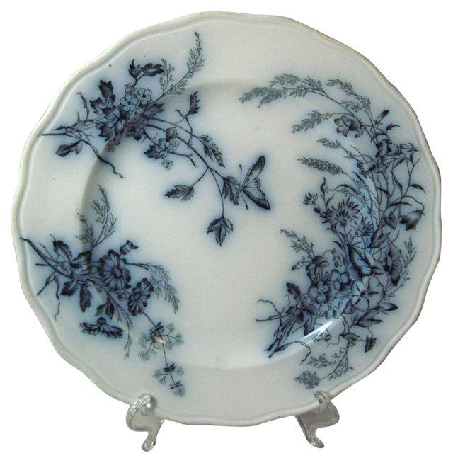 Flow Blue Aesthetic Plate, C. 1870