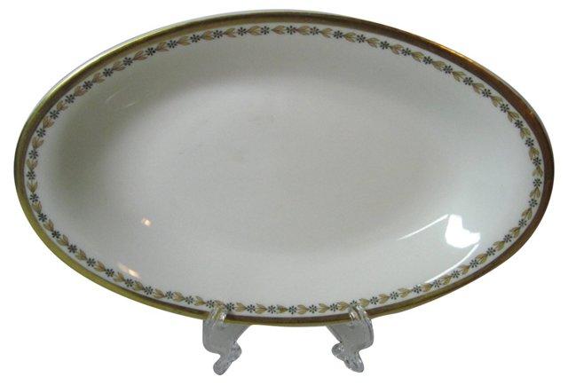 Haviland Gold Rim Relish Dish
