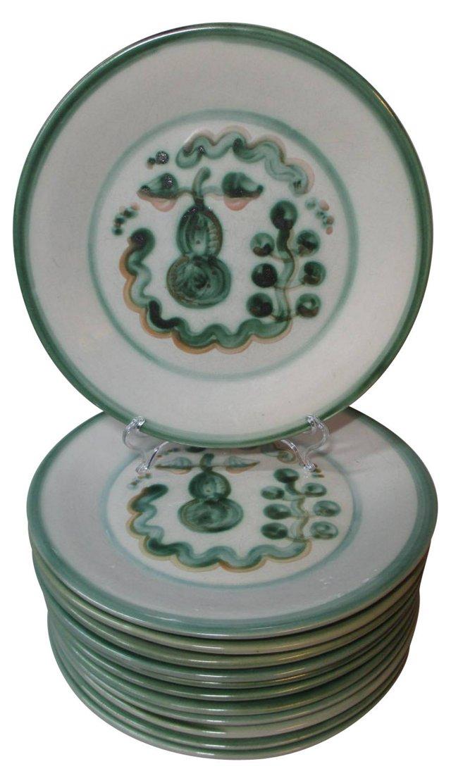 Hadley Hand-Painted Squash Plates, S/12