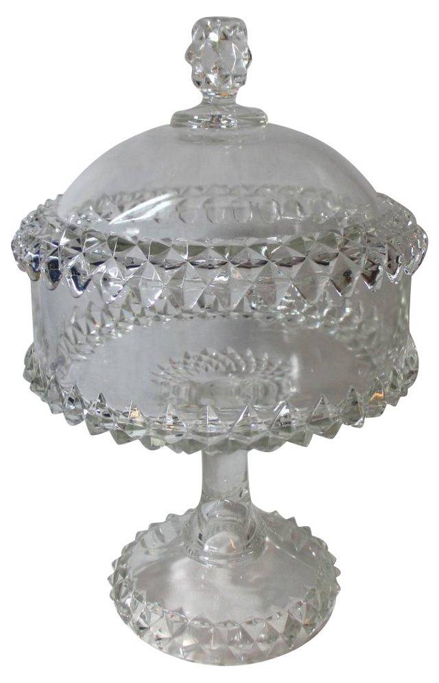 Antique     Glass Compote
