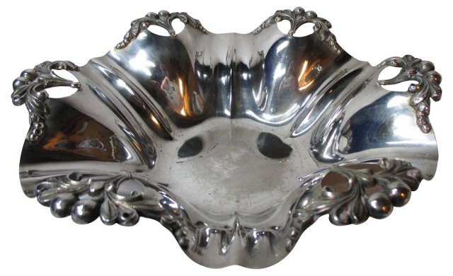 Silverplate Fluted & Open-Work Bowl