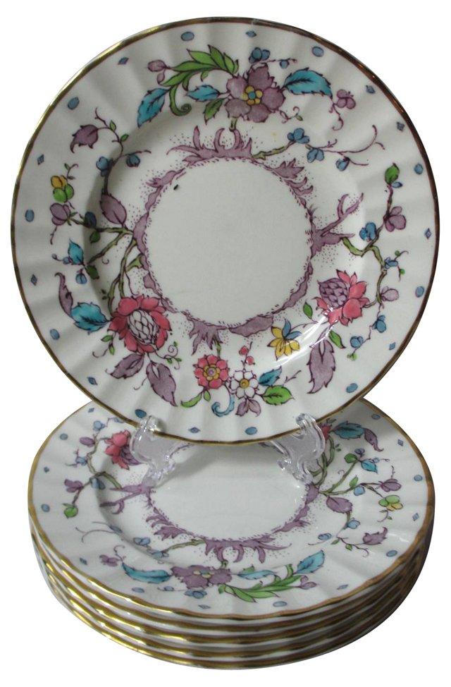 Royal Worcester Dessert Plates, S/6
