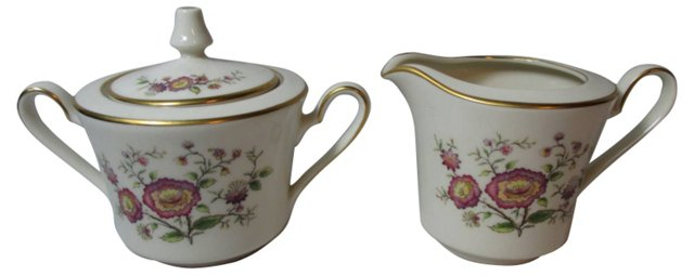 Noritake Asian Song Sugar & Creamer
