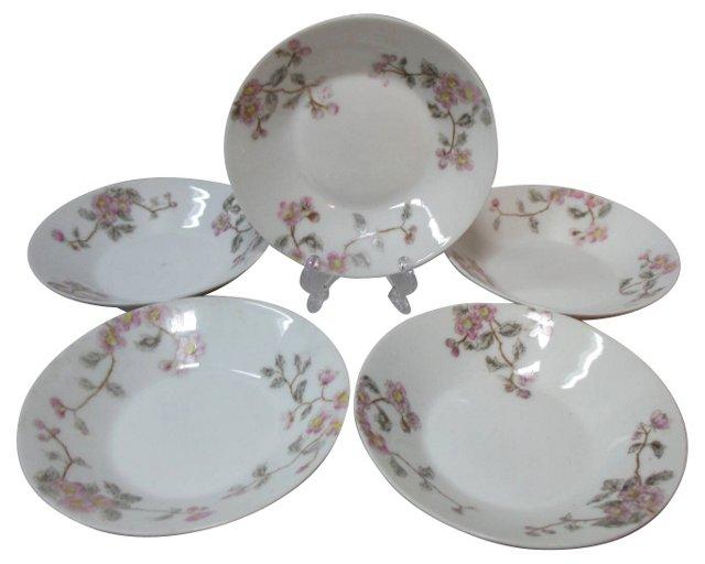 Haviland Floral Dessert Bowls, S/5